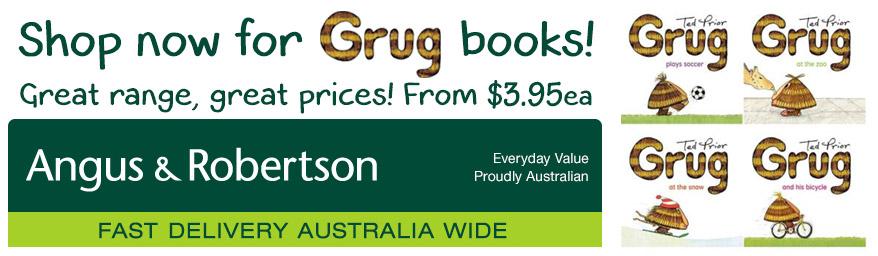 Buy Grug children's books by Australian author Ted Prior